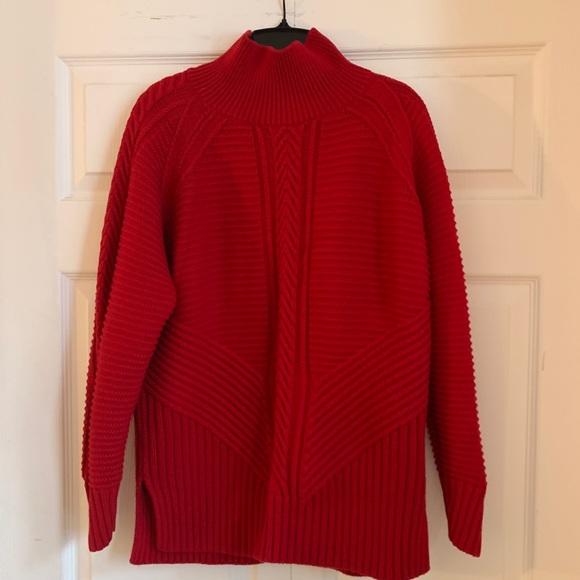 Banana Republic Red Knit Turtleneck Sweater 🎈
